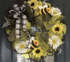 Spring Deco Mesh Wreaths | Welcome to Krafty Hands , where items are handcrafted with LOVE .