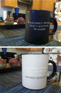 Heat reactive coffee mug!!!