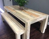 Affordable custom beetle kill tables for dining area