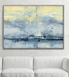 Extra Large Print Giclee of Original Wall Art, Acrylic Abstract Painting, Yellow Gray White, Minimalist Landscape Reproduction Art These are PRINTS. Important information regarding all prints: 1. The prices can be found over on the right in the dimensions drop down bar. Please choose