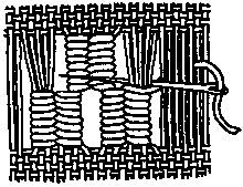 Needle weaving, darning – ANNE WANNER'S Textiles in History / vocabulary 7 – 2019 - Weaving ideas Weaving Loom Diy, Inkle Weaving, Weaving Art, Wire Weaving, Weaving Patterns, Tapestry Weaving, Basket Weaving, Hand Weaving, Hardanger Embroidery