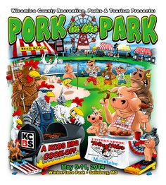 Pork in the Park 2014 - Official Artwork! See you in Salisbury, MD May 9-11! www.porkinthepark.org