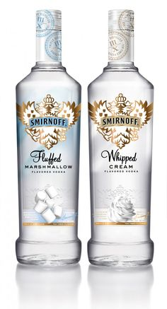 SMIRNOFF Whipped Cream and SMIRNOFF Fluffed Marshmallow Flavored Vodka - ideas how to use them