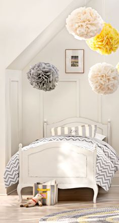 A beautiful twin bed that can grow with your child. Its classic style coordinates with everything from princess themes to neutral grey patterns. HomeDecorators.com #kids