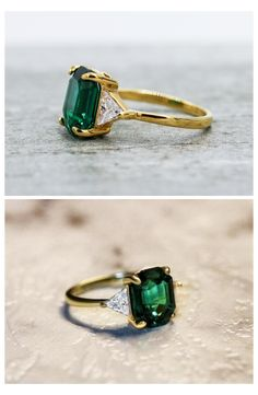 Engagement Ring Settings, Wedding Engagement, Engagement Rings, Wedding Ring, Dream Wedding, Emerald Stone, Natural Emerald, Emerald Cut, I Love You Ring