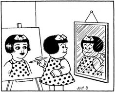 Important.      This was one of my favorite cartoons.  Maybe because I always felt I was Nancy.