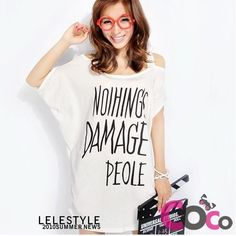 White Wide Special From Korean Fashion T-Shirt