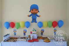 Image result for cumpleaños de pocoyo decoracion Baby 1st Birthday, 2nd Birthday Parties, Ideas Para Fiestas, Childrens Party, Baby Boy Shower, First Birthdays, Kids Rugs, Toy Story, Pastel