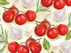 tomato vegetables pattern