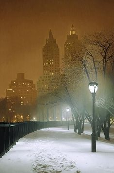 Nocturne, Oh The Places You'll Go, Places To Travel, Beautiful Places, Beautiful Pictures, Nyc, I Love Ny, Winter Wonder, Concrete Jungle