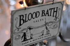 """Here's another fun and easy idea from Kerri that she uses in her """"bloodbathroom"""". Light a red candle,"""