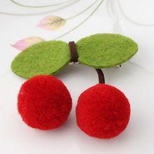 1 PC Novo Cereja Doce Grampo de Cabelo Meninas Acessórios Para o Cabelo Barrette Feminino Melhor Presente Fruto Barrete Para Meninas(China (Mainland))