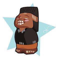 stickers-indio Tiki Tiki, Disney Characters, Fictional Characters, Kawaii, Disney Princess, Logos, Tela, September, Caricatures