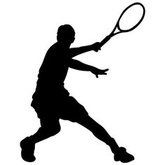 Tennis Wall Decal Sticker 20 - Decal Stickers and Mural for Kids Boys Girls Room and Bedroom. Tennis Sport Wall Art for Home Decor and Decoration - Tennis Silhouette Mural -- Want additional info? Click on the image.