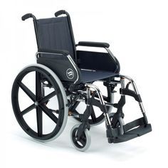 Silla Acero Plegable Breezy 250. Esta silla de ruedas manual, la Breezy 250, es una de las mejores del mercado. Esta gama de sillas son sinónimo de robustez, diseño y comodidad. Fabricada en acero, está pensada para ofrecerte todas las garantías. Dispone de una amplia gama de opciones y accesorios. Escoge entre ruedas pequeñas o autopropulsables.