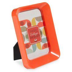 Cadre photo en plastique orange 9x14 cm JEANNETTE