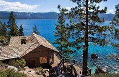 Howard Hughes Lake Tahoe Log Cabin for Sale