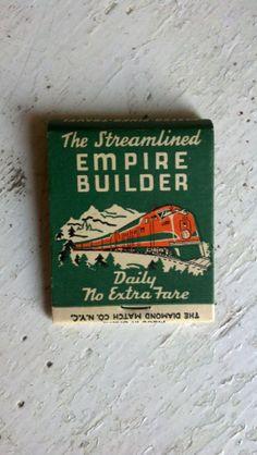 Empire builder. Railroad Matchbook *Great Northern Railway*
