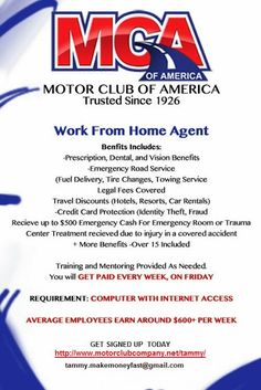 1000 images about my motor club of america on pinterest Motor club of america careers