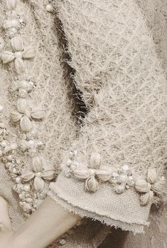 Chanel couture jacket .... a Design house with fabulous details in workmanship