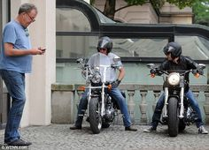 James and Richard test out a couple of motorbikes while Jeremy texts...