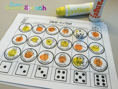 Multisyllabic and Apraxia activities for speech therapy! Dice and Dot