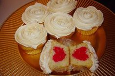 Hideaway Heart Cupcakes On World Baking Day step out of your comfort zone and bake something you have never baked before. Kos, Sweet Recipes, Cake Recipes, Heart Cupcakes, Something Sweet, Baked Goods, Bakery, Sweet Treats, Cheesecake