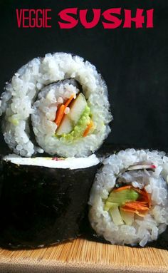Gluten Free Sushi, Gluten Free Recipes For Lunch, Sushi Recipes, Gluten Free Cooking, Vegan Recipes, Snack Recipes, Easy Sushi Rolls, Veggie Sushi Rolls, Lunch Snacks