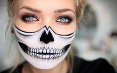 Maquillaje de Halloween DIY: Esqueleto a mitad paso a paso - ¿Quién necesita un disfraz? Hazte tú misma el terrorífico maquillaje de un esqueleto a mitad para Halloween. ¡Triunfarás!