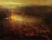 Luminist Paintings - Last Light Reflected by Maurice Sapiro
