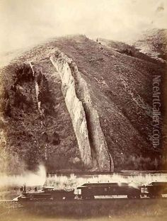 size: Photographic Print: The Devil's Slide, Union Pacific Railroad, Utah, 1880 by Carleton Emmons Watkins : Green Landscape, Beach Landscape, Landscape Photos, Carleton Watkins, Union Pacific Railroad, Best Hikes, Best Photographers, Stretched Canvas Prints, Old Photos