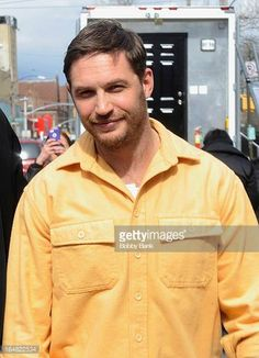 Tom Hardy filming on location for 'Animal Rescue' on March 28 2013 in the Brooklyn borough of New York City