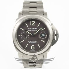 #Panerai PAM00279 Luminor Marina 44mm Titanium Case Chocolate Brown Dial Titanium Bracelet Automatic Watch #PAM279 #OCWatchCompany #WatchStore #WalnutCreek