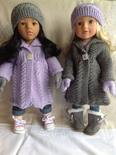 "Dolls Fashion Clothes Knitting pattern. 18"" doll. Gotz, American Girl…"