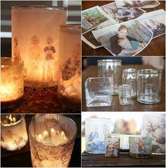 DIY Glowing Photo Luminaries