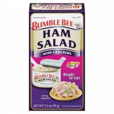 Bumble Bee® Ham Salad with Crackers Kit - Delicious, easy-to-mix ham salad with Hellmann's Mayo included.