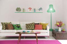 färgglatt lekfullt vardagsrum