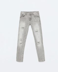 Image 7 of RIPPED SKINNY JEANS from Zara REF. 6855/400