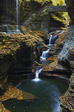 This is just calling our name!.-Terra Rainbow Falls, Watkins Glen National Park, New York, USA