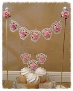 Cake bunting with matching cupcake toppers | Flickr - Photo Sharing!
