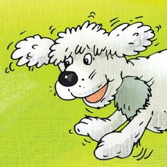 "Jasper loves to run and play! From: ""The Tale of Five Tails"" Fluffy Puppies, Bookmarks, Childrens Books, Snoopy, Jasper, Happy, Fictional Characters, Play, Pet Dogs"