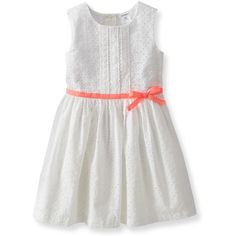 Cotton Eyelet Dress Carter's featuring polyvore, kids, baby, baby things, baby clothes and baby girl