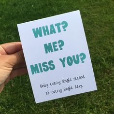 Card Ideas Discover Funny I Miss You Card - Funny Greeting Card - Funny Long Distance Relationship Card - Funny Friendship Card - deployment card Funny Greetings, Funny Greeting Cards, Funny Cards, Cute Cards, Cards For Boyfriend, Boyfriend Gifts, Friendship Cards, Funny Friendship, Long Distance Friendship