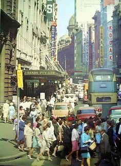 Busy Sydney street, ca.1960's. v@e.