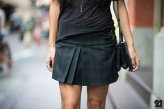 Street Style: Obsessed with the school girl rock idea, especially when it looks this professional