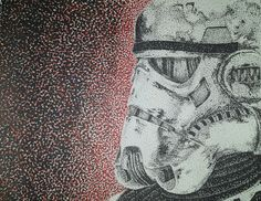 Neo-impressionism stormtrooper   drawing out of sharpies