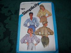 Vintage Simplicity 6549  Misses Loose-Fitting Raglan Sleeve Blouses, Simplicity Pattern dated 1984 by vintagecitypast on Etsy