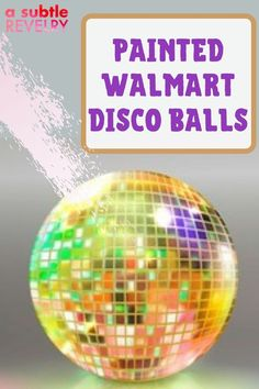Let's add a splash of color to your disco ball! A Subtle Revelry has taken a 70s fixture that is available to buy at any Walmart. We have a checklist of materials needed and easy step-by-step instructions. With a little prep and paint, your disco ball gets a brand new look. Hang 'em up all over the house - and outside too. What a great way to update this decades-old icon into the 21st century! It will put a smile on everyone's faces. Read more… #discoball #painteddiscoball #walmartdiscoball Bright Paint Colors, Balloon Backdrop, Love Balloon, Unique Wallpaper, Colourful Balloons, Disco Ball, Step By Step Instructions, House Colors, 21st Century