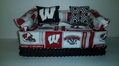 University of Wisconson Badgers Licensed Fabric by CLASSECHAOS, $19.95