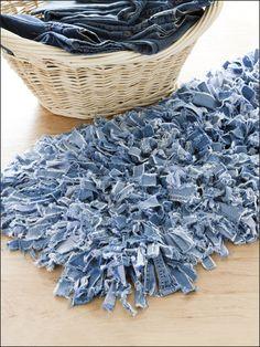 Crochet for the Home - Crochet Rug Patterns - Denim Dust Catcher